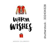 warm wishes. christmas...   Shutterstock .eps vector #332434328