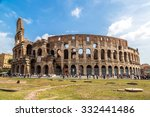 the colosseum is a main tourist ... | Shutterstock . vector #332441486