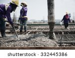 Concrete Casting Work. Using A...