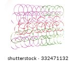 colorful lines of circles in... | Shutterstock . vector #332471132