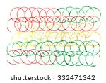 three colors of overlapped...   Shutterstock . vector #332471342