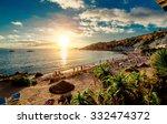 Cala Dhort Beach At Sunset....