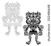 Vector Decorative Totem Idol....