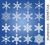 snowflake collection vector | Shutterstock .eps vector #332487116