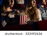 teenager friends at the cinema... | Shutterstock . vector #332492636