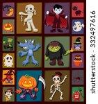 vintage halloween poster design ... | Shutterstock .eps vector #332497616