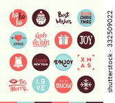 set of cute christmas and new... | Shutterstock .eps vector #332509022