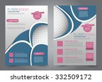 flyer template. business... | Shutterstock .eps vector #332509172