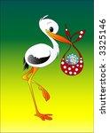 stork delivering baby boy ... | Shutterstock .eps vector #3325146