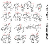 stick figure wedding couple | Shutterstock . vector #332526872