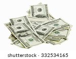 bundle of money isolated on a... | Shutterstock . vector #332534165