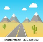 Highway Through Desert With...