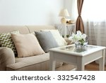 pastel color sofa with... | Shutterstock . vector #332547428