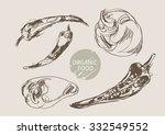 pepper hand draw sketch  vector | Shutterstock .eps vector #332549552