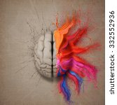 creative mind or brain... | Shutterstock . vector #332552936