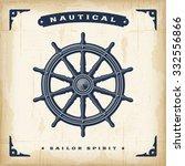 vintage steering wheel | Shutterstock . vector #332556866