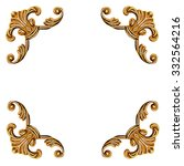 golden elements of carved frame ... | Shutterstock . vector #332564216