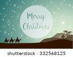 christmas card template  three... | Shutterstock .eps vector #332568125