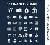 finance  bank icons set  vector ... | Shutterstock .eps vector #332569712