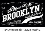 new york brooklyn sport... | Shutterstock .eps vector #332570042