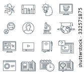 education icon set suitable for ... | Shutterstock .eps vector #332571875