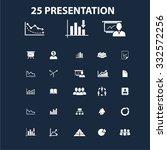 presentation icons | Shutterstock .eps vector #332572256