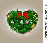 christmas heart | Shutterstock .eps vector #332585816