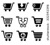 set of vector shopping cart... | Shutterstock .eps vector #332592398