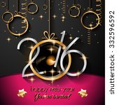 2016 happy new year background... | Shutterstock . vector #332596592