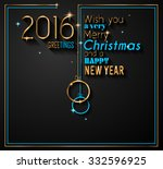 2016 happy new year background... | Shutterstock . vector #332596925
