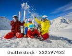ski  winter  snow   family... | Shutterstock . vector #332597432