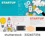 set of flat design illustration ... | Shutterstock .eps vector #332607356