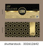 luxury golden and black voucher ... | Shutterstock .eps vector #332612642