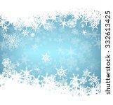 christmas snowflakes card | Shutterstock .eps vector #332613425
