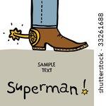 leg of the cowboy in a boot an... | Shutterstock .eps vector #33261688