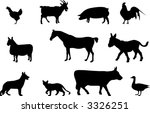 farm animals silhouettes | Shutterstock .eps vector #3326251