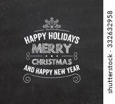 christmas typographic... | Shutterstock .eps vector #332632958