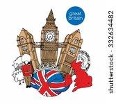 great britain vector... | Shutterstock .eps vector #332634482