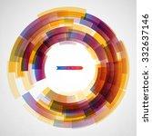 techno vector circle abstract... | Shutterstock .eps vector #332637146