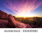 stunning autumn sunrise in the... | Shutterstock . vector #332650382