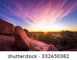 stunning autumn sunrise in the... | Shutterstock . vector #332650382