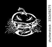 halloween pumpkin burger white | Shutterstock .eps vector #332658275