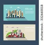 flyer town for presentation and ... | Shutterstock . vector #332660018