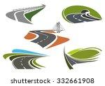 road bridge  highway tunnel ... | Shutterstock .eps vector #332661908