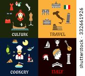 italy travel concept with... | Shutterstock .eps vector #332661926