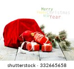 christmas decoration over... | Shutterstock . vector #332665658