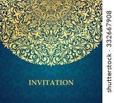 vintage invitation card. | Shutterstock .eps vector #332667908