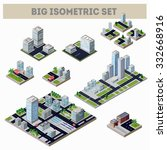 a large set of isometric city... | Shutterstock . vector #332668916