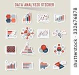data analysis icons  sticker... | Shutterstock .eps vector #332676878