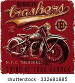 motorbike t shirt graphic design | Shutterstock .eps vector #332681885